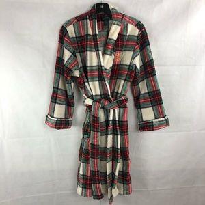 Ralph Lauren Fleece Plaid Robe M